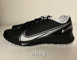 Nike Vapor Edge Turf Football Training Shoes Mens Sz 11 Black White CD0086-001