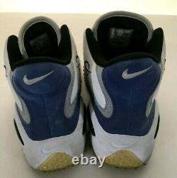 Nike Zoom Air 97 Cross Turf Trainer Shoes Sanders Mens Size 13 White Blue Penny