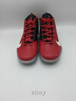 Nike Zoom FORCE MIKE TROUT 5 Turf Baseball Shoe SZ 12 WHT/RED/BLK AH3374 601