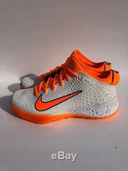 Nike Zoom Force Trout 5 Turf Shoes BQ5556-103 Size 9.5 Orange/Blue/White