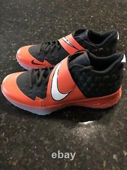 Nike Zoom Force Trout 6 Turf Mens Baseball Shoes Black Orange CQ0998-001 Sz 10