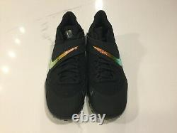 Nike Zoom Force Trout 6 Turf Shoes Black/Gold Baseball AT3463-006 Men's Size 10
