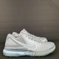 Nike Zoom Trout 3 Tf Baseball Turf Shoes 844628-011 Silver/white Men's Sz8-10.5