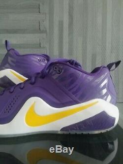 Nike Zoom Trout 4 Turf/Trainer LSU Tigers PE Sample Baseball Men's Size 12.5