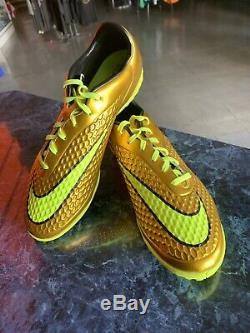 Nike hypervenom Premium TURF LE Golden Neon Black Soccer Size Man 10.5 Neymar