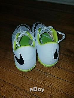 Nike hypervenom phelon premium turf white and yellow soccer shoes size 9 for$200