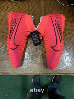 Nike mercurial Superfly 7 Academy TURF Laser CRIMSOM Black Soccer Shoes 9 Only