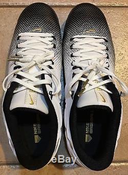 RARE New Nike Lunar Trout 2 Turf Shoes Black PE Promo Baseball Cleats Men's 12.5