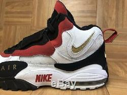 RARE Nike Air Max Speed Turf White Black Red Gold Sz 12 525225-101 Men's Shoes