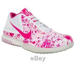 68c8805e633 RARE Nike Zoom Trout 3 Turf Shoes Pink Mothers Day Baseball Cleats 844628  Men 14