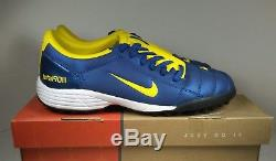 Rare! 2005 Nike Total90 lll TF Turf YellowithBlue 308233-471 Mens Soccer Shoes