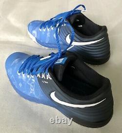 Rare NIKE LUNAR TROUT 2 TURF Baseball Shoe Solar Light Photo Blue/White Size 11