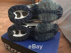Reebok Dallas Emmitt Smith Black Blue White SPEED TURF Sneaker Shoes Men 10.5