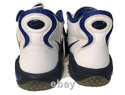 Retro Nike Air Zoom Turf Jet 97 White Blue Barry Sanders Shoes Size 13