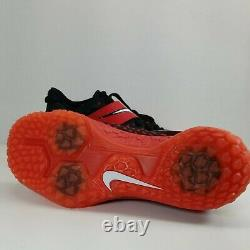 Size 10 NIKE FORCE ZOOM TROUT 6 TURF BASEBALL AT3463-601 RED BLACK WHT Men