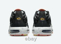 Size 12.5 Nike Air Max Plus Black Turf Orange Aquamarine Shoes Mens CZ1651-001