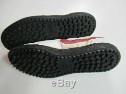VINTAGE 80s 1983 Nike Field General Shoes Turf Waffle White Maroon Swoosh MENS 9