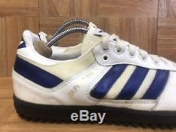 VNTG Adidas Gripper PRO L Turf Leather Trainers Made In Taiwan Sz 9.5 Mens LE