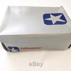 VTG New 80s Converse Star Leather Turf Pro Hi Top Shoes 10.5 18995 Mens White