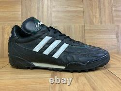 Vintage Adidas Questra 1997 Black Leather Pine Green Indoor Turf Shoes Sz 11