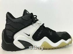 Vintage Nike Air Super Zoom Barry Sanders Men 9.5 Turf OG 1997 Rare Black/Silver