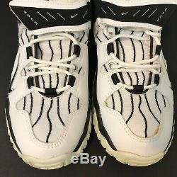 Vintage Nike Air Super Zoom Barry Sanders Men 9.5 Turf OG 1997 Rare White/Black