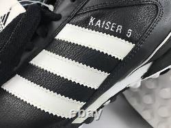 Vtg Adidas Mens Rare Kaiser 5 Team Turf 677357 Black White Soccer Shoes Size 11